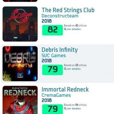 Debris Infinity, elegido uno de los mejores juegos españoles de 2018