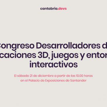 Congreso Desarrolladores de aplicaciones 3D, juegos y entornos interactivos